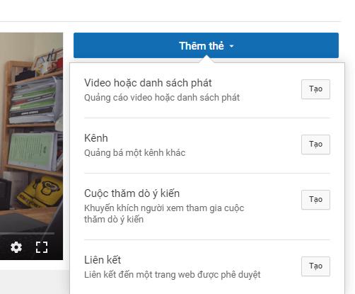 Thêm thẻ vào video của bạn