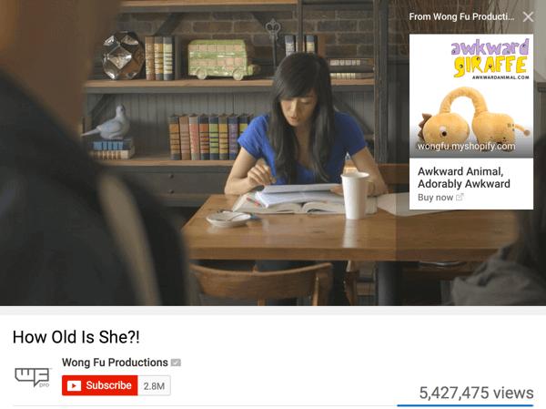 Wong Fu Productions chuyển hướng người dùng đến tài khoản My Shopify của họ, nơi họ cung cấp các mặt hàng khác nhau để bán.