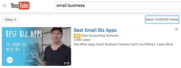 Đây là những gì quảng cáo của bạn sẽ xuất hiện trong tìm kiếm YouTube.