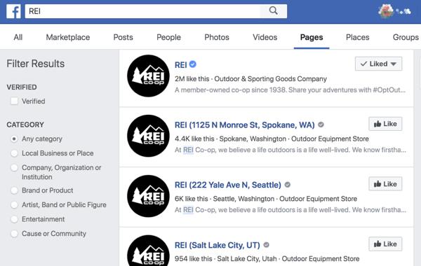 Các trang vị trí của Facebook giúp mọi người dễ dàng tìm thấy các cửa hàng và văn phòng gần họ hơn.