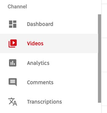 Cách sử dụng chuỗi video để phát triển kênh YouTube, tùy chọn menu để chọn một video YouTube cụ thể để xem dữ liệu phân tích
