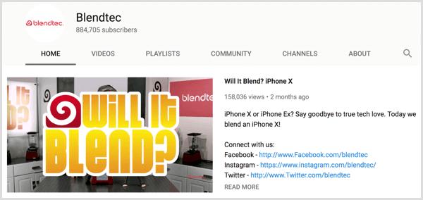 Mô tả video nổi bật trên YouTube