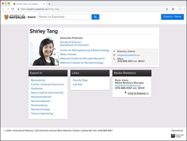 Công cụ Expertise Finder